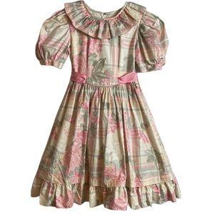 Sylvia Whyte Girls Vintage Floral Dress Size 7
